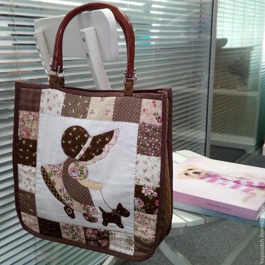 Женские сумки ручной работы. Ярмарка Мастеров - ручная работа. Купить Сумка с девочкой. Handmade. Разноцветный, сумка