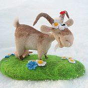 Куклы и игрушки ручной работы. Ярмарка Мастеров - ручная работа Коза Маняша из войлока. Handmade.