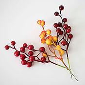 Материалы для творчества ручной работы. Ярмарка Мастеров - ручная работа Гроздь ягодок Ф128. Handmade.
