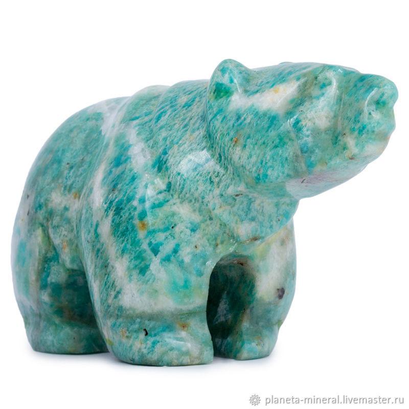 Медведь из амазонита «Потапыч». Фигурка, Народные сувениры, Москва,  Фото №1