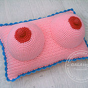 Сувениры и подарки handmade. Livemaster - original item Pillow Boobs. Handmade.