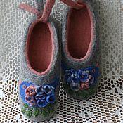"""Обувь ручной работы. Ярмарка Мастеров - ручная работа тапочки из шерсти """"птичка певчая"""". Handmade."""