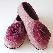 Обувь ручной работы handmade. Livemaster - original item Women`s felted Slippers from natural wool. Handmade.