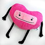 handmade. Livemaster - original item Gift pillow-toy heart, gift heart on February 14. Handmade.