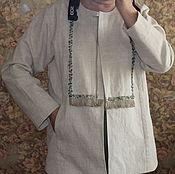 Одежда ручной работы. Ярмарка Мастеров - ручная работа Летняя куртка изо льна.. Handmade.