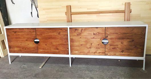Мебель ручной работы. Ярмарка Мастеров - ручная работа. Купить тв тумба. Handmade. Белый, тумба, стол, консольный столик