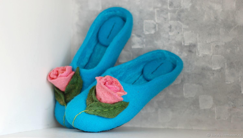 Felted Slippers felt Slippers for women , Slippers, Yaroslavl,  Фото №1