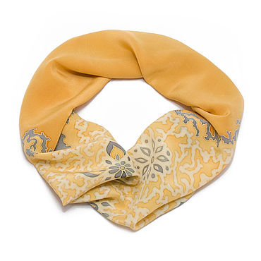 Accessories handmade. Livemaster - original item Yellow and gold silk scarf