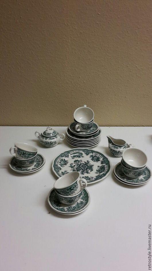 Винтажная посуда. Ярмарка Мастеров - ручная работа. Купить Набор посуды Villeroy&Boch Fasan зеленый винтаж. Handmade. Зеленый, villeroy