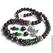 Украшения handmade. Livemaster - original item SNAKE Garnet necklace Set necklace earrings Handmade. Handmade.