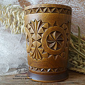 Канцелярские товары handmade. Livemaster - original item Pencil carved wooden Geometry. Handmade.