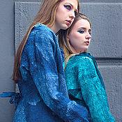 Одежда ручной работы. Ярмарка Мастеров - ручная работа Жакет валяный 46-52 размер на шелке летний. Handmade.