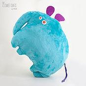 Для дома и интерьера handmade. Livemaster - original item Velour pillow toy Elephant. Handmade.