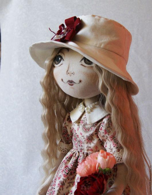 Коллекционные куклы ручной работы. Ярмарка Мастеров - ручная работа. Купить текстильная кукла Софи. Handmade. Бежевый, красивая кукла