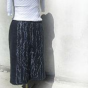 """Одежда ручной работы. Ярмарка Мастеров - ручная работа Юбка валяная на подкладе """"Графит"""". Handmade."""