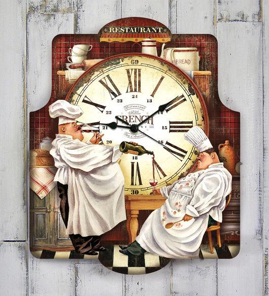 Часы для дома ручной работы. Ярмарка Мастеров - ручная работа. Купить часы настенные Повар Петр повар Павел. Handmade.