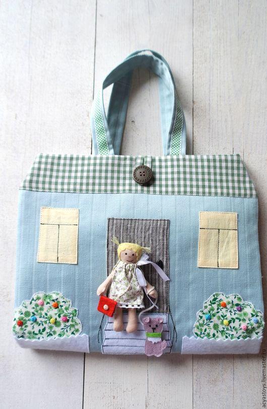 Кукольный дом ручной работы. Ярмарка Мастеров - ручная работа. Купить Сумочка-домик. Handmade. Домик-сумочка, кукольный домик