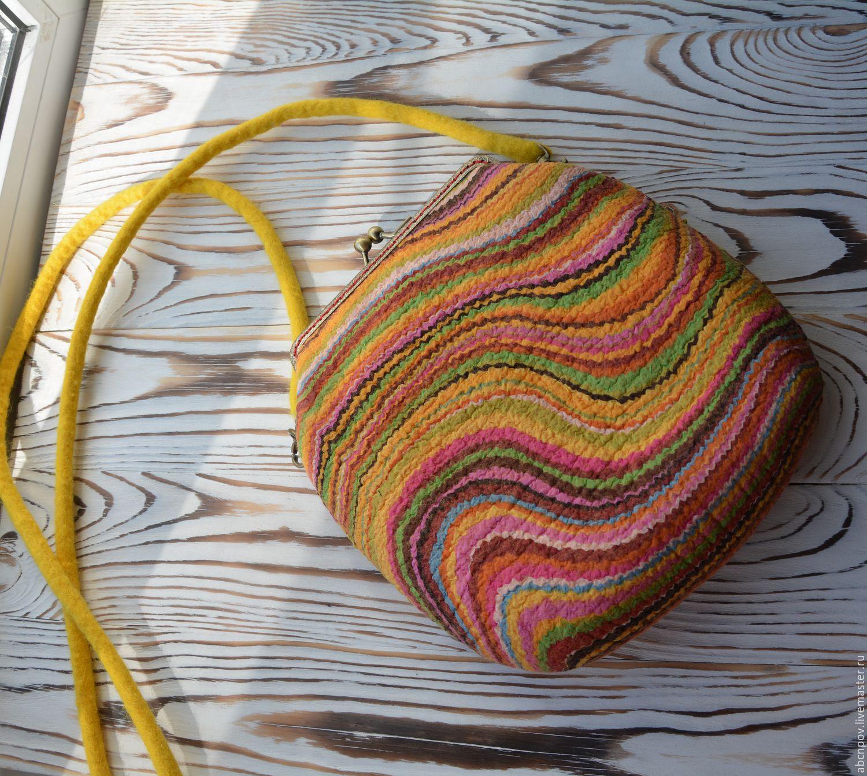 Bag of felt 'Summer baby', Classic Bag, Liski,  Фото №1