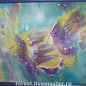 """Картины и панно ручной работы. Ярмарка Мастеров - ручная работа Картина  батик """"Рыбы"""". Handmade."""