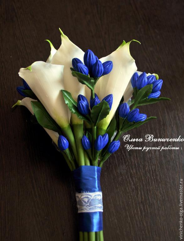 Горшках оптом, букет невесты из синих каллы цена