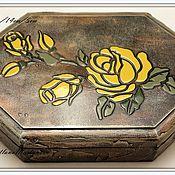 """Для дома и интерьера ручной работы. Ярмарка Мастеров - ручная работа Шкатулка """"Чайная роза"""". Handmade."""