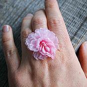 Украшения handmade. Livemaster - original item Pink peony ring, polymer clay. Handmade.