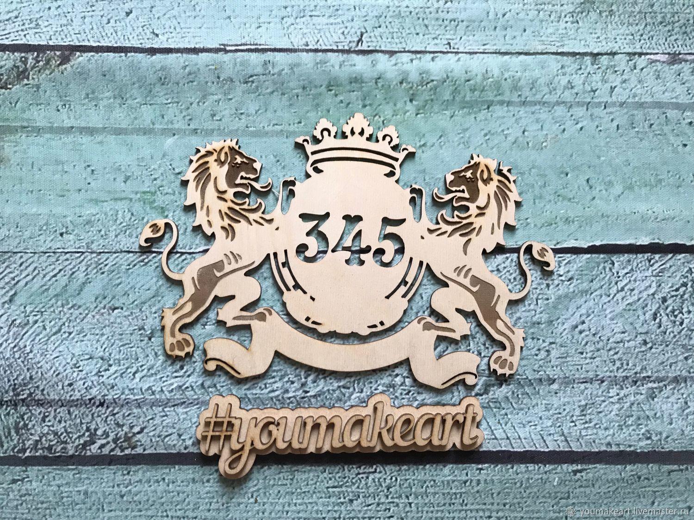 Номерок на дверь квартиры индивидуального дизайна, Двери, Москва,  Фото №1