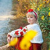 """Одежда ручной работы. Ярмарка Мастеров - ручная работа Платье-Вышиванка""""МАКИ"""". Handmade."""