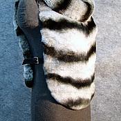 Одежда ручной работы. Ярмарка Мастеров - ручная работа Жилетка из меха кролика рекс ( под шиншиллу). Handmade.