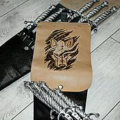 Сувениры и подарки handmade. Livemaster - original item Covers for skewers made of genuine leather.. Handmade.