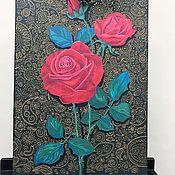 """Декоративная картина """"Красные розы"""""""