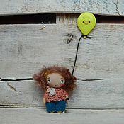 Работы для детей, ручной работы. Ярмарка Мастеров - ручная работа Девочка с шариком. Handmade.