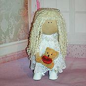 Куклы и игрушки ручной работы. Ярмарка Мастеров - ручная работа Текстильная интерьерная кукла Ангел. Handmade.