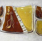"""Тарелки ручной работы. Ярмарка Мастеров - ручная работа Набор посуды из 5 предметов """"Мелодия Гитары"""". Handmade."""