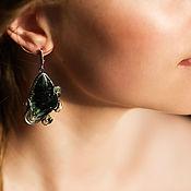 handmade. Livemaster - original item Earrings serafinite. Handmade.