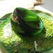 Украшения ручной работы. Ярмарка Мастеров - ручная работа Перстень из зеленого халцедона Изумрудный принц 20 р-р. Handmade.