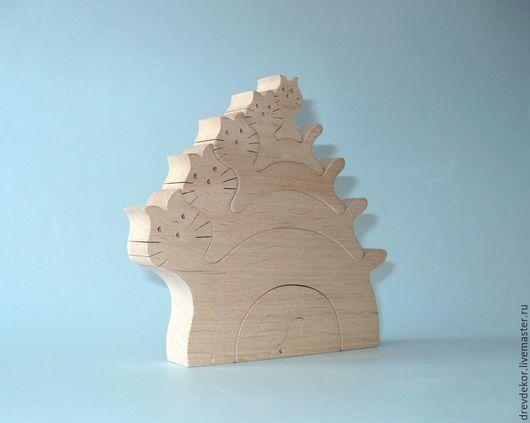 Развивающие игрушки ручной работы. Ярмарка Мастеров - ручная работа. Купить пазл кошки 5. Handmade. Комбинированный, сувениры из дерева