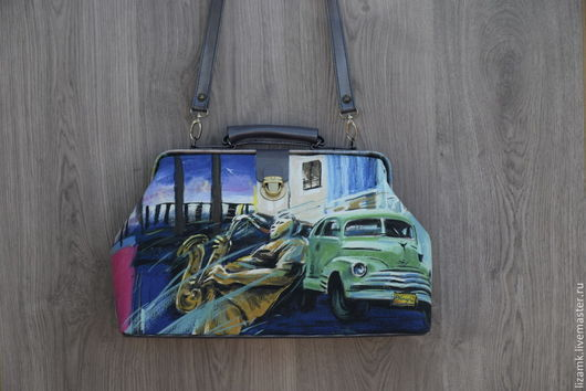 Женские сумки ручной работы. Ярмарка Мастеров - ручная работа. Купить Саквояж в стиле Джаз,,,,,,,,,,,. Handmade. Синий, саквояж купить
