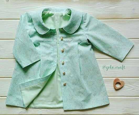 Одежда для девочек, ручной работы. Ярмарка Мастеров - ручная работа. Купить Летнее пальто для девочки.. Handmade. Детская одежда