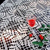 "Для дома и интерьера handmade. Livemaster - original item Tablecloth crochet ""White rose,"". Handmade."