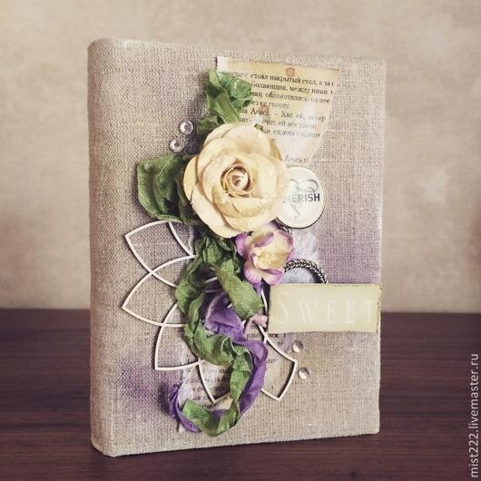 Блокноты ручной работы. Ярмарка Мастеров - ручная работа. Купить Блокнот. Handmade. Фиолетовый, блокнот с нуля, записная книжка, зеленый