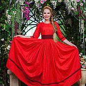 Одежда handmade. Livemaster - original item Cotton dress to the floor