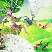 Картины и панно ручной работы. Ярмарка Мастеров - ручная работа Картина Весенние дожди. Handmade.