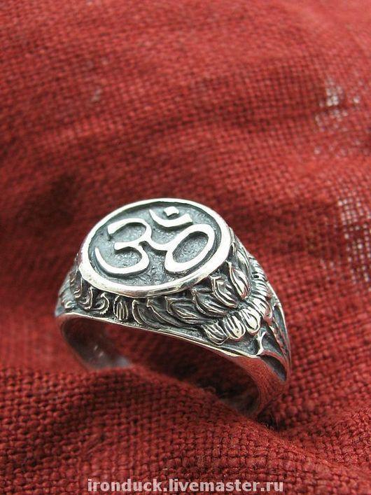 """Кольца ручной работы. Ярмарка Мастеров - ручная работа. Купить кольцо """"Ом"""". Handmade. Ом, серебряное кольцо, буддизм"""