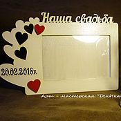 """Фоторамки ручной работы. Ярмарка Мастеров - ручная работа Фоторамка """"Наша свадьба"""" с датой. Handmade."""