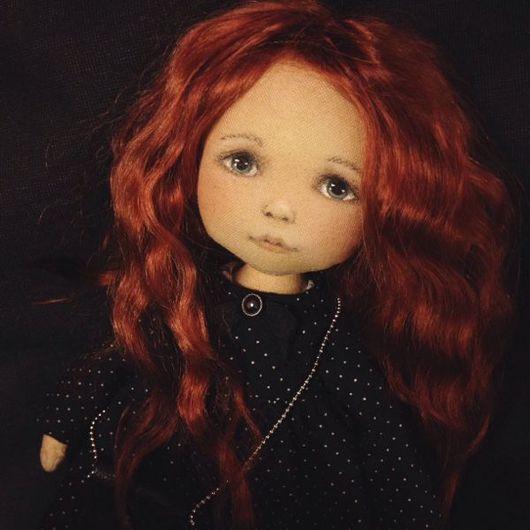 Коллекционные куклы ручной работы. Ярмарка Мастеров - ручная работа. Купить Рыжая в чёрном. Handmade. Комбинированный, авторская ручная работа