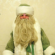 Винтаж ручной работы. Ярмарка Мастеров - ручная работа Дед Мороз советский. Вата+ткань. Реставрация. Handmade.