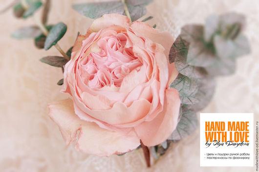 """Цветы ручной работы. Ярмарка Мастеров - ручная работа. Купить Мастер-класс """"Пионовидная роза из зефирного фоамирана"""". Handmade. Комбинированный"""