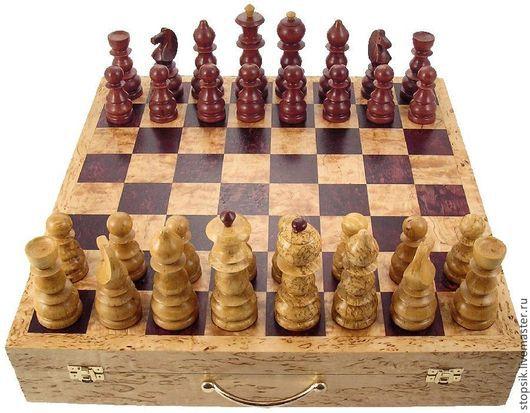 Настольные игры ручной работы. Ярмарка Мастеров - ручная работа. Купить Шахматы Кейс (карельская берёза) ( 6086). Handmade.