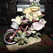 Для дома и интерьера ручной работы. Ярмарка Мастеров - ручная работа Забавная семейка на велосипеде. Handmade.
